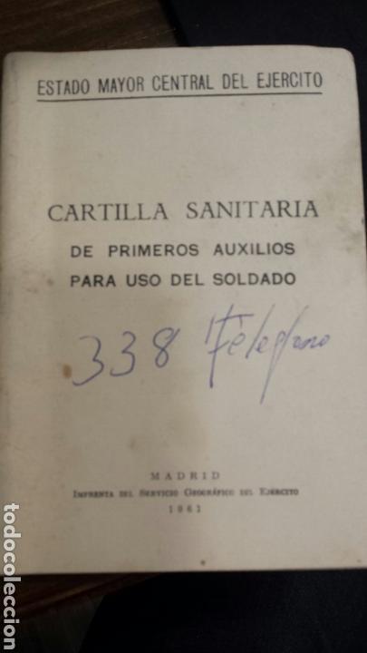 CARTILLA SANITARIA DE PRIMEROS AUXILIOS PARA UN SOLDADO (Militar - Libros y Literatura Militar)