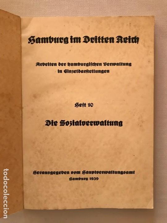 Militaria: Libro Hamburg im Dritten Reich, Die Sozialverwaltung 1939, Tercer Reich, Hitler, nazi, NSDAP - Foto 2 - 134637406