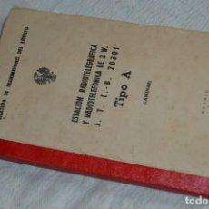 Militaria: 1947, ESTACIÓN RADIOTELEGRÁFICA Y RADIOTELEFÓNICA, JEFATURA DE TRANSMISIONES DEL EJERCITO - ENVÍO24H. Lote 134751910