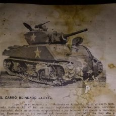 Militaria: RESTO DE LIBRO MILITAR. Lote 135164077