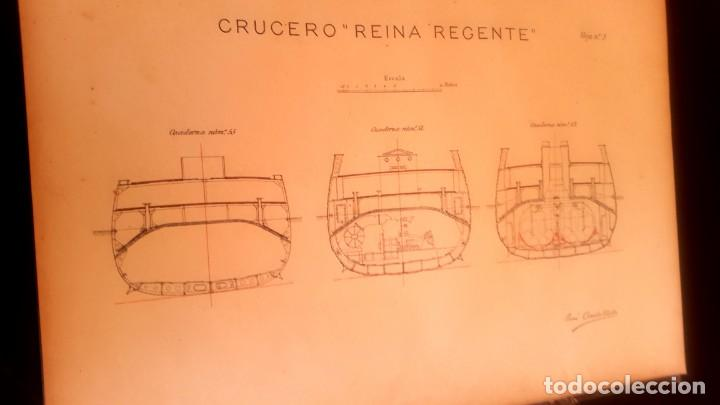 Militaria: BARCO - HUNDIMIENTO CRUCERO REINA REGENTE - 1896 - INFORME - Foto 5 - 135231898