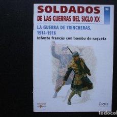 Militaria: LA GUERRA DE TRINCHERAS, 1914-1916 SOLDADOS DE LAS GUERRAS DEL SIGLO XX 96 OSPREY DEL PRADO. Lote 135231962