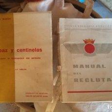 Militaria: MANUALES PARA RECLUTAS DEL EJERCITO. Lote 135356890