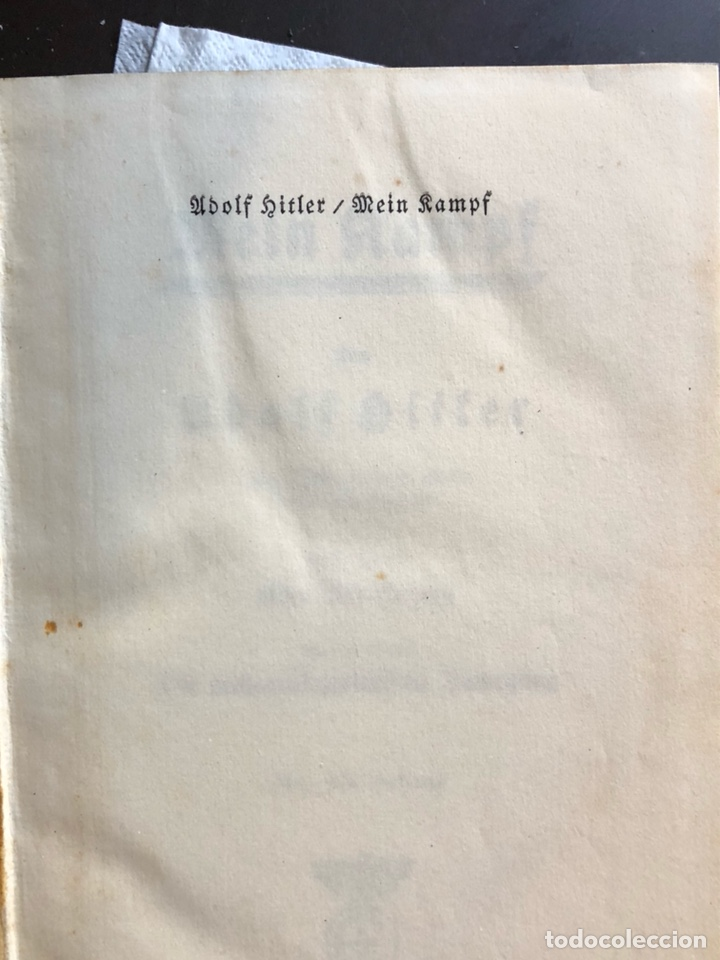 Militaria: Libro mi lucha Adolf hitler ed 1940 - Foto 3 - 137718714