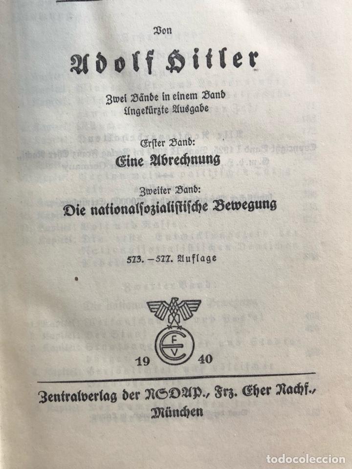 Militaria: Libro mi lucha Adolf hitler ed 1940 - Foto 4 - 137718714