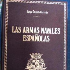Militaria: LAS ARMAS NAVALES ESPAÑOLAS BAZAN CIEN EJEMPLARES NUMERADOS ENCUADERNADOS EN PIEL CHAGRÍN. Lote 135449550