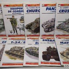Militaria: LOTE 11 LIBROS CARROS DE COMBATE -OSPREY MILITARY Nº 5-8-13-18-20-25-30-32-43-60-61. Lote 135676743