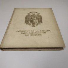 Militaria: J- COMISION DE LA ARMADA PARA SALVAMENTO DE BUQUES NUMERADO Nº 438/1500 AÑO 1941 . Lote 135807694