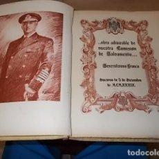 Militaria: COMISIÓN DE LA ARMADA PARA SALVAMENTO DE BUQUES. GENERALÍSIMO FRANCO. 1939.EJEMPLAR NUMERADO. . Lote 135863902
