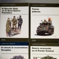 Militaria: LOTE DE 4 REVISTAS DE OSPREY MILITARY SOBRE CARROS DE COMBATE.. Lote 136103265