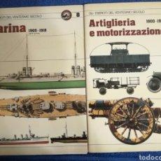 Militaria: LOTE DE 2 LIBRETOS MILITARES DE LA ARMADA Y ARTILLERIA ITALIANA.SIMILARES A SQUADRON SIGNAL.. Lote 136231478