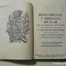 Militaria: 1774 REGLAMENTO DE CAVALLERIA Y DRAGONES MONTADOS . Lote 136592910