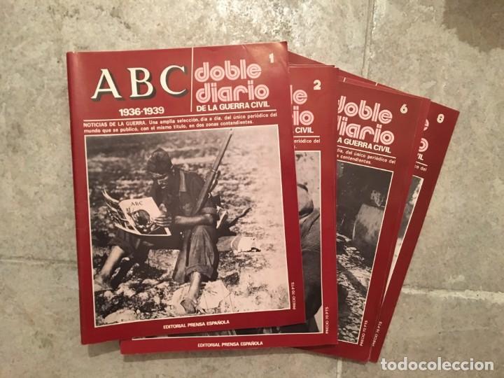 Entregas del 1 al 8 de ABC, Doble diario guerra civil española. segunda mano
