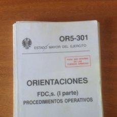 Militaria: ORIENTACIONES - PROCEDIMIENTOS OPERATIVOS. Lote 137520754