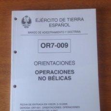 Militaria: ORIENTACIONES - OPERACIONES NO BELICAS. Lote 137530976