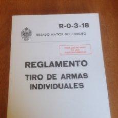 Militaria: REGLAMENTO - TIRO DE ARMAS INDIVIDUALES. Lote 137550168