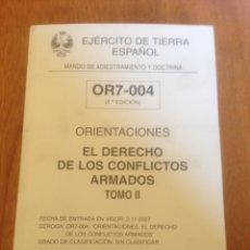 Militaria: ORIENTACIONES - EL DERECHO DE LOS CONFLICTOS ARMADOS TOMOII. Lote 137551362