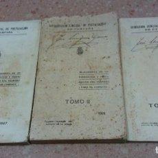 Militaria: REGLAMENTO DE ORGANIZACION Y PREPARACION DEL TERRENO PARA EL COMBATE TOMOS I,II, Y III. Lote 137574414