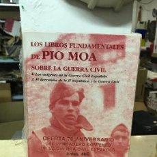Militaria: LOS LIBROS FUNDAMENTALES DE PIO MOA SOBRE LA GUERRA CIVIL - MALETIN PRECINTADO - DESCATALOGADO. Lote 138075270