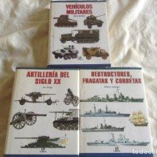 Militaria: LOTE 3 LIBROS ED. LIBSA. Lote 138925414