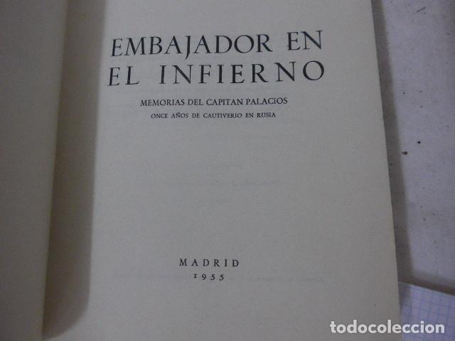 Militaria: Antiguo libro embajador en el infieno, division azul. Original. - Foto 3 - 139120002