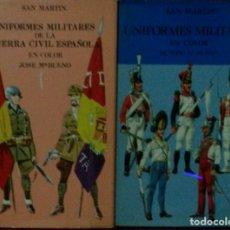 Militaria: LOTE 2 LIBROS EDITORIAL SAN MARTIN... Lote 139220146