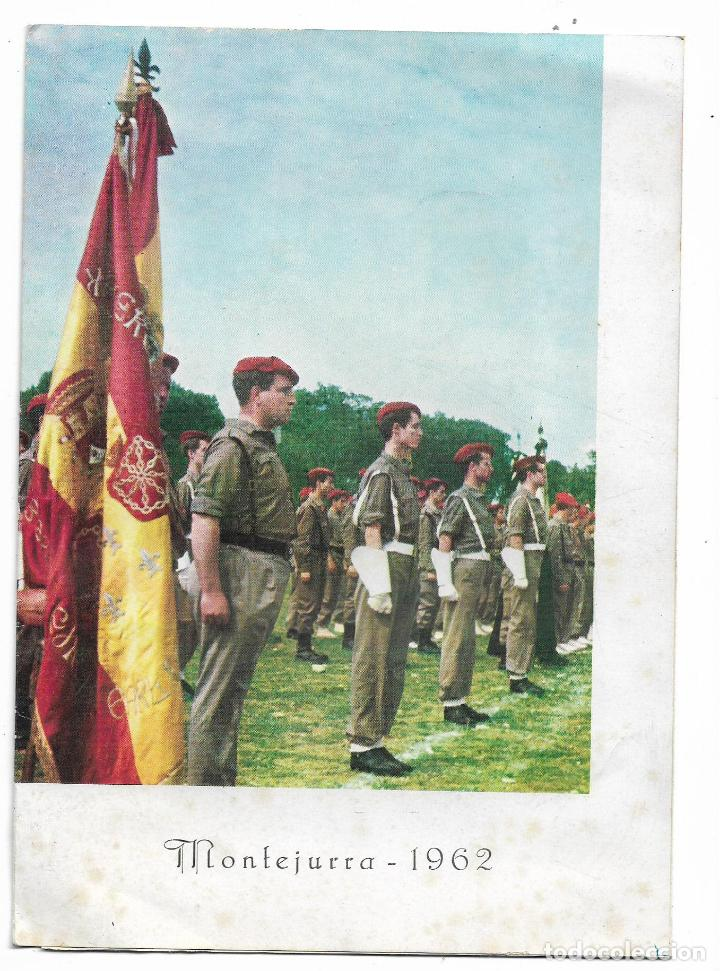 TRIPTICO - PROGRAMA MONTEJURRA 1962 - DELEGACION NACIONAL DE REQUETES (Militar - Libros y Literatura Militar)