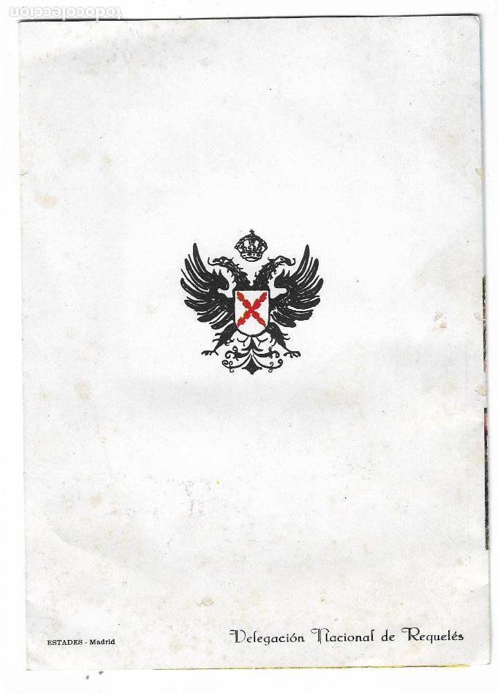 Militaria: triptico - programa montejurra 1962 - delegacion nacional de requetes - Foto 2 - 139323018