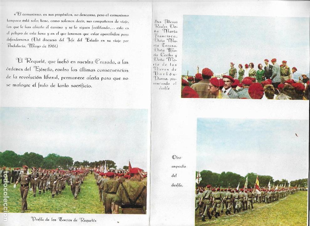 Militaria: triptico - programa montejurra 1962 - delegacion nacional de requetes - Foto 3 - 139323018