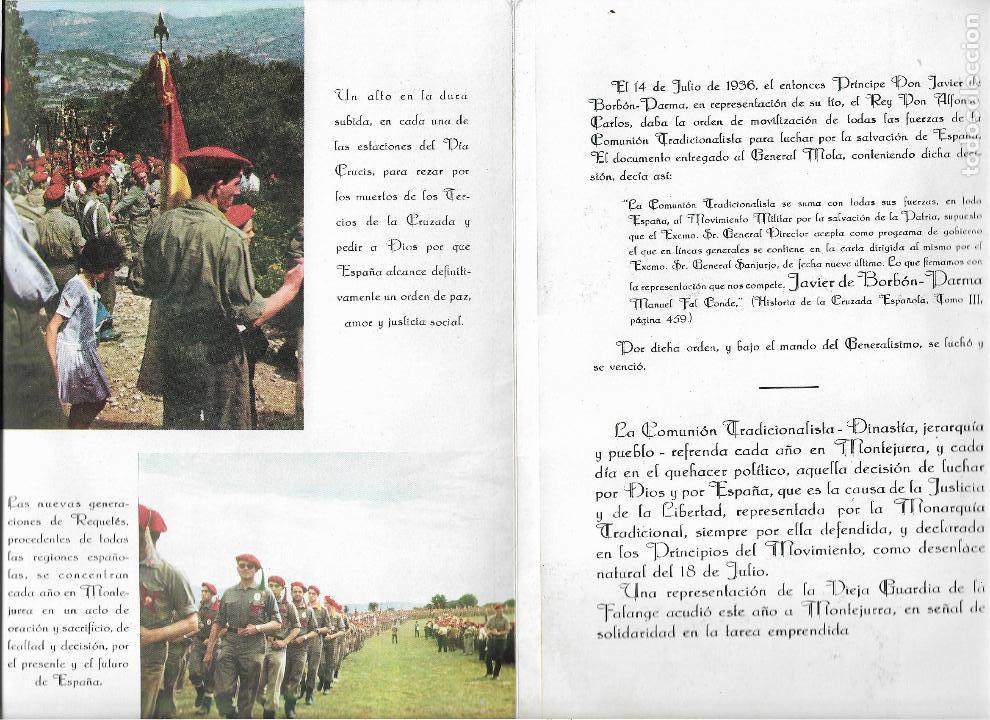 Militaria: triptico - programa montejurra 1962 - delegacion nacional de requetes - Foto 4 - 139323018