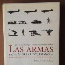 Militaria: LAS ARMAS DE LA GUERRA CIVIL ESPAÑOLA, DE JOSÉ MARÍA MANRIQUE Y LUCAS MOLINA. ED. LA ESFERA . Lote 139546670
