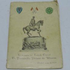 Militaria: EN MEMORIA DEL TENIENTE CORONEL D. FERNANDO PRIMO DE RIVERA. MADRID, MAYO DE 1957, CABALLERIA, VARIO. Lote 140371534