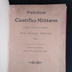 Militaria: COMPENDIO DE ESTUDIOS CIENTÍFICOS MILITARES, 1909. Lote 140742974