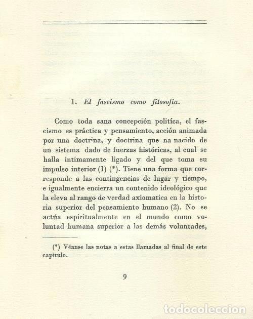 Militaria: B1199 - BENITO MUSSOLINI. LA DOCTRINA DEL FASCISMO. VALLECCHI EDITORE. 1935 - Foto 2 - 147769609