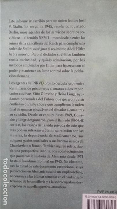 Militaria: El informe hitler - Foto 2 - 141792354