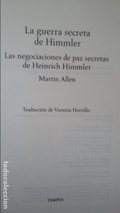MARTIN ALLEN: LA GUERRA SECRETA DE HIMMLER (Militar - Libros y Literatura Militar)
