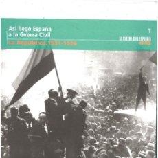 Militaria: LA GUERRA CIVIL ESPAÑOLA MES A MES. Nº1. LA REPÚBLICA 1931-1936. Lote 142094094