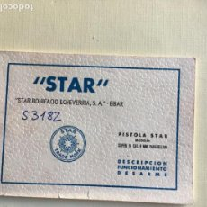 Militaria: STAR, PISTOLA STAR MODELO SUPER B. Lote 142783890