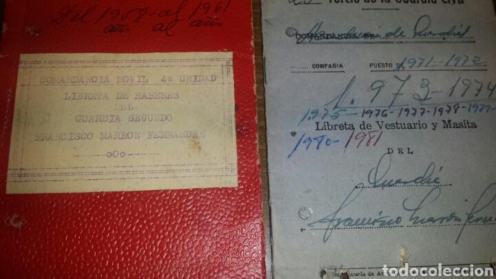 LIBRETA DE HABERES Y VESTUARIO GUARDIA CIVIL (Militar - Libros y Literatura Militar)