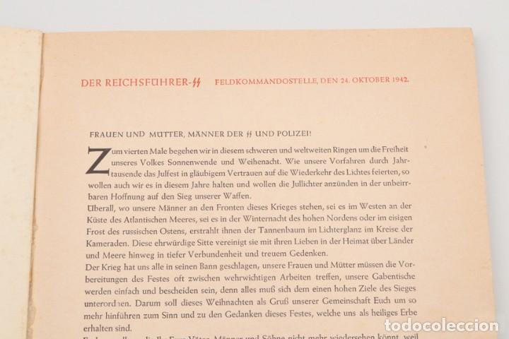 Militaria: Libro Weihnachts Liederbich 1942, Tercer Reich, Hitler, Nazi, NSDAP, SS Navidad - Foto 9 - 142971254
