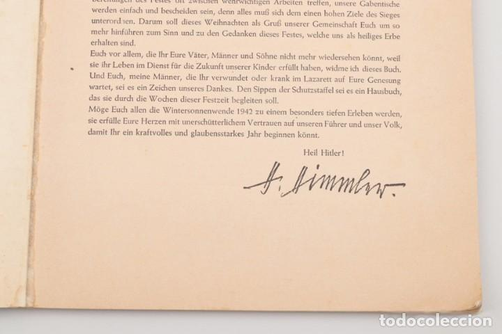 Militaria: Libro Weihnachts Liederbich 1942, Tercer Reich, Hitler, Nazi, NSDAP, SS Navidad - Foto 10 - 142971254