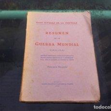 Militaria: RIVERAS DE LA PORTILLA. RESUMEN DE LA GUERRA MUNDIAL (1914-1918) MADRID, 1940. Lote 143064770