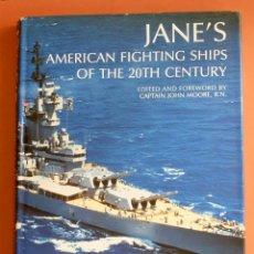 Militaria: AMERICAN FIGHTING SHIPS - JANE'S- FOTOS Y DOCUMENTACIÓN DETALLADA DE BARCOS DE GUERRA U.S.A.. Lote 143282742