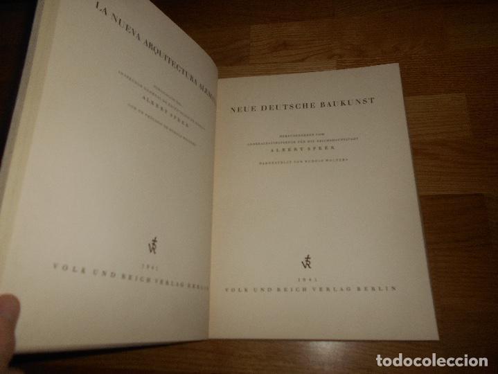 Militaria: La nueva arquitectura alemana 1941 Albert Speer edición bilingüe, Berlin 24x32cm SEGUNDA G. MUNDIAL - Foto 2 - 144008610