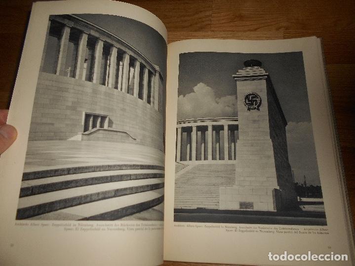 Militaria: La nueva arquitectura alemana 1941 Albert Speer edición bilingüe, Berlin 24x32cm SEGUNDA G. MUNDIAL - Foto 6 - 144008610