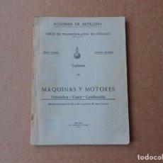 Militaria: ACADEMIA DE ARTILLERIA MAQUINAS Y MOTORES SEGOVIA 1943 CURSO TRANSFORMACION OFICIALES . Lote 145364714
