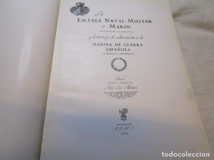 Militaria: GALICIA -MARIN - ESCUELA NAVAL DE MARIN ARMADA ESPAÑOLA - LUGRIS - EDI PPKO VIGO 1943 + INFO 1s - Foto 3 - 145428234