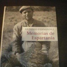 Militaria: MEMORIAS DE ESPARTANIA, ANTONIO FERNANDEZ, GUERRA CIVIL. Lote 145859426