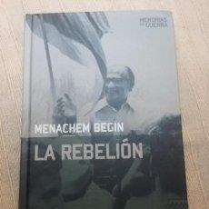 Militaria: LA REBELION. MENACHEM BEGIN. ALTAYA, COL. MEMORIAS DE GUERRA, 2008. Lote 146505366