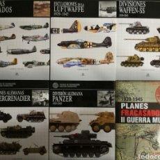 Militaria: LOTE 6 LIBROS DE LIBSA.FICHAS DE TECNOLOGIA MILITAR SOBRE DIVISIONES PANZER.SEGUNDA GUERRA MUNDIAL.. Lote 146589125